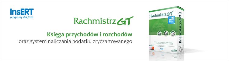 Rachmistrz GT: Ksiêga przychodów i rozchodów oraz system naliczania podatku zrycza³towanego